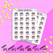 EXERCISE CRY - Hand Drawn Planner Stickers - Deco - FS010