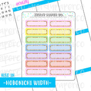 PASTEL RAINBOW 1/4 BOXES - HAND DRAWN PLANNER STICKERS - FS013