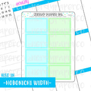 PASTEL 1/2 BOXES - HAND DRAWN PLANNER STICKERS - FS015