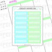 PASTEL 1/4 BOXES - HAND DRAWN PLANNER STICKERS - FS016