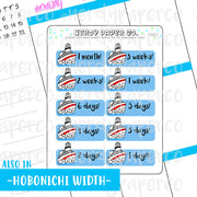 CRUISE COUNTDOWN- Hand Drawn Planner Stickers - FS017