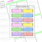 PASTEL NOTE 1/4 BOXES - Hand Drawn Planner Stickers - FS022