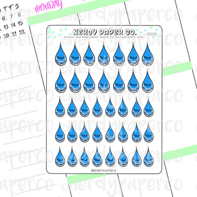 WATER PLANTS - Hand Drawn Inspired Planner Stickers - Deco -FS023