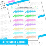 PASTEL BRUSHSTROKE HEADERS- Hand Drawn Planner Stickers - FS024