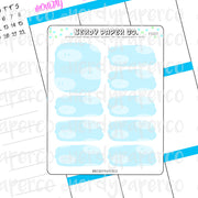 S. MARIO CLOUD BOXES- Hand Drawn Planner Stickers - FS027