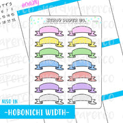 BANNER HEADERS- Hand Drawn Planner Stickers - FS035