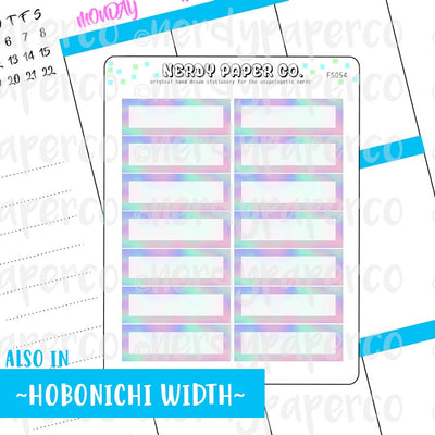 HOLO 1/4 BOXES - Hand Drawn Hobo Planner Stickers - FS054