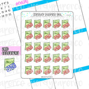 BILLS PAID - Hand Drawn Planner Stickers - FS070
