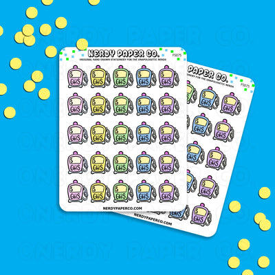GAS - Hand Drawn Planner Stickers - FUNCTIONAL - FS075