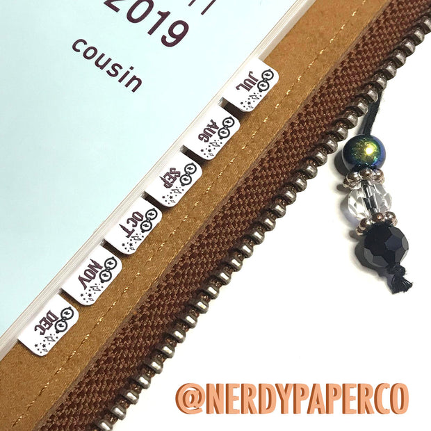 POTTA PLANNER TABS - Hand Drawn Functional Planner Stickers - FS085