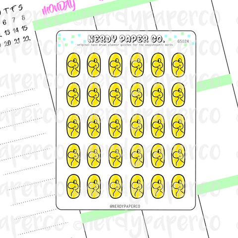 YOSHI COIN - Hand Drawn Planner Stickers - Deco - GS024