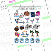 CRUISE TIME - Hand Drawn Planner Stickers - DS035