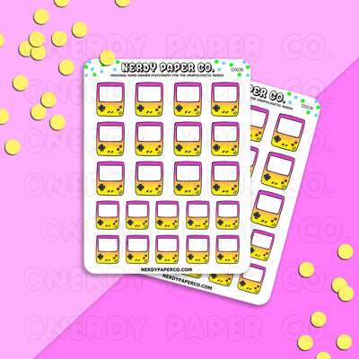 PINK LEMONADE GAMEBOY - Hand Drawn Planner Stickers - Deco -GS036