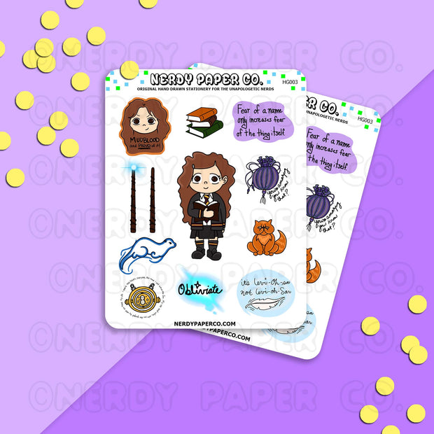 Smart Witch Sampler - Hand Drawn Wizard Planner Stickers | HG003