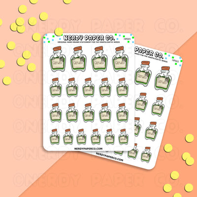 PLANT POTION - Hand Drawn Wizard Planner Stickers Deco | HP065