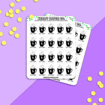 AKKIO COFFEE - Hand Drawn Wizard Planner Stickers Deco | HP004