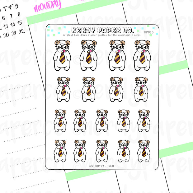 THEO PAWTTER - Hand Drawn Wizard Planner Stickers - HP015