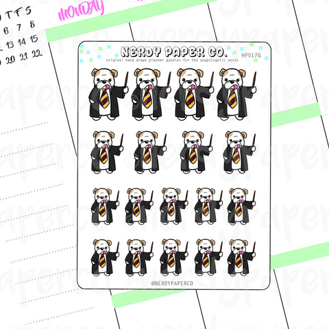 THEO RED HOUSE PRIDE - Hand Drawn Wizard  Planner Stickers - HP017G