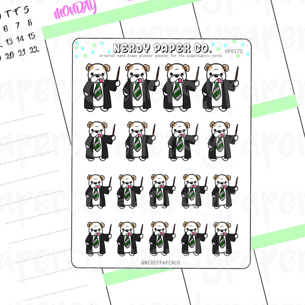 THEO GREEN HOUSE PRIDE - Hand Drawn Wizard Planner Stickers - HP017S