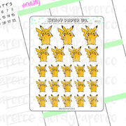 PIKAPOTTER- Hand Drawn Wizard Planner Stickers Deco | HP033