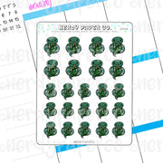 SLYTHERSNAKE - Hand Drawn Wizard Planner Stickers Deco | HP058