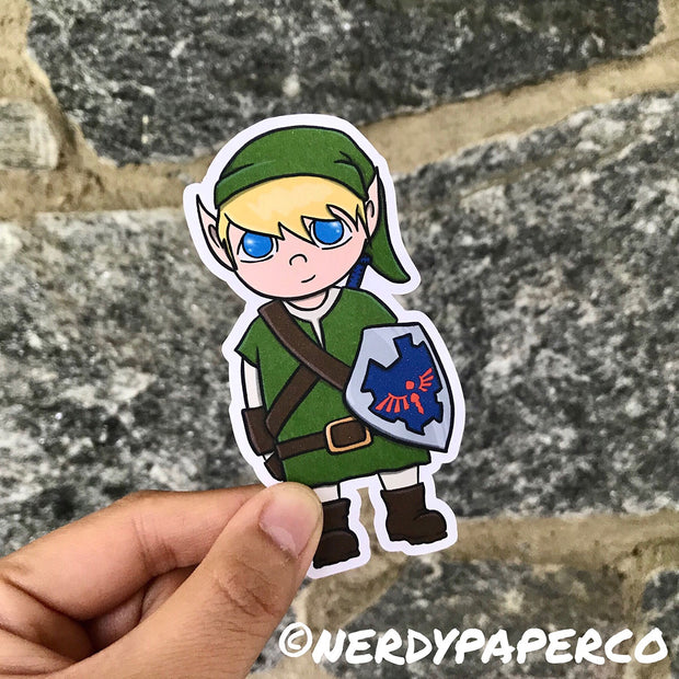 LINK DIE CUT-  Hand Drawn Zelda- Inspired  Planner Die Cut