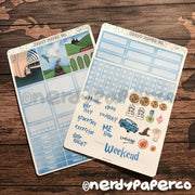 JOURNEY TO MAGIC SCHOOL MINI KIT - Hand Drawn Wizard Planner Stickers | MK002