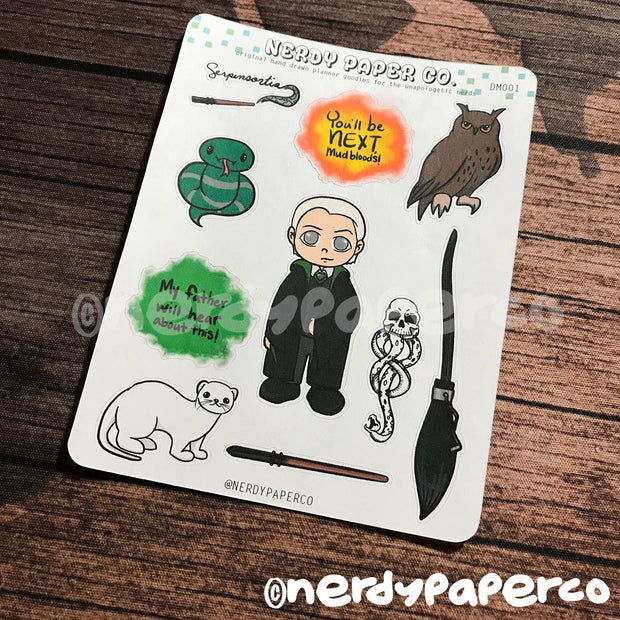 Draco Sampler | Hand Drawn Wizard Planner Stickers - Deco | DM001