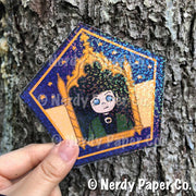 *LIMITED RUN* | COLLECTORS EDITION CHOCO FROG HOLO CARD | NO. 2 - Hand Drawn Wizard  Card