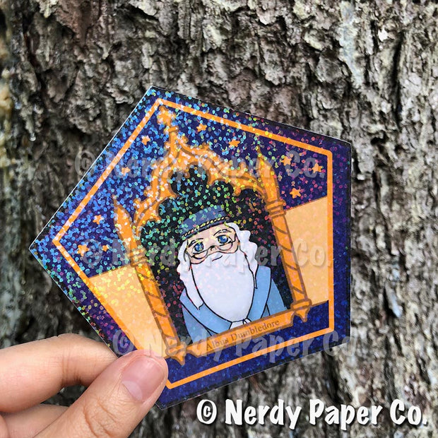 *LIMITED RUN* | COLLECTORS EDITION CHOCO FROG HOLO CARD | NO. 1 - Hand Drawn Wizard Card