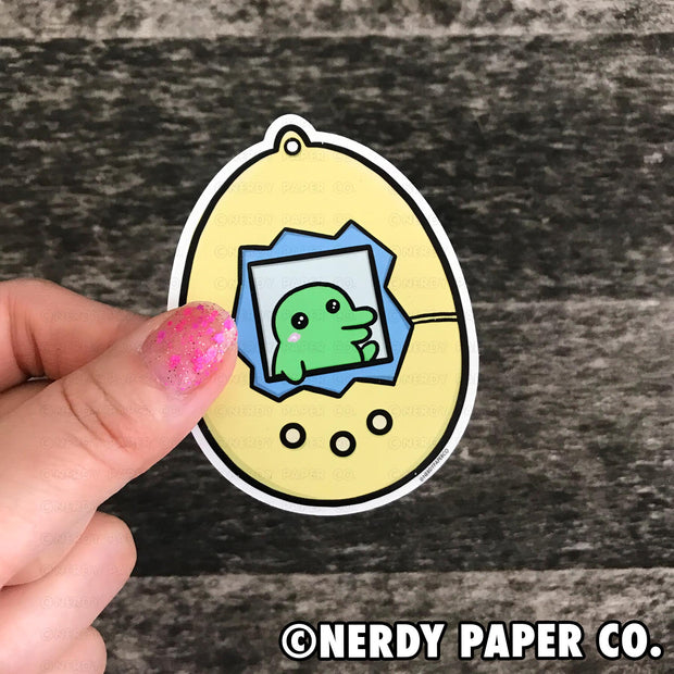 PEEKING KUCHIPATCHI -  Hand Drawn Vinyl Sticker