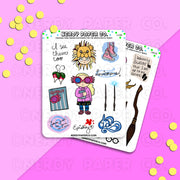 QUIRKY WITCH SAMPLER -Hand Drawn Wizard Stickers- LL008