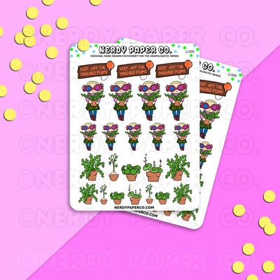 OBSCURE PLANTS | LUNA SAMPLER - Hand Drawn Wizard Stickers- LL009