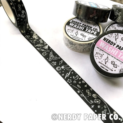 MAGICAL WORLD HOLOGRAPHIC | BLACK |  WASHI TAPE | MT004
