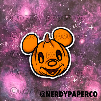 PUMPKIN MOUSE - Hand Drawn Inspired Vinyl Sticker