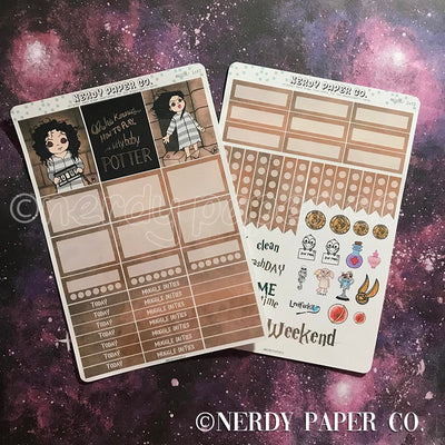 BELLATRIX MINI KIT - Hand Drawn Wizard Planner Stickers | MK006