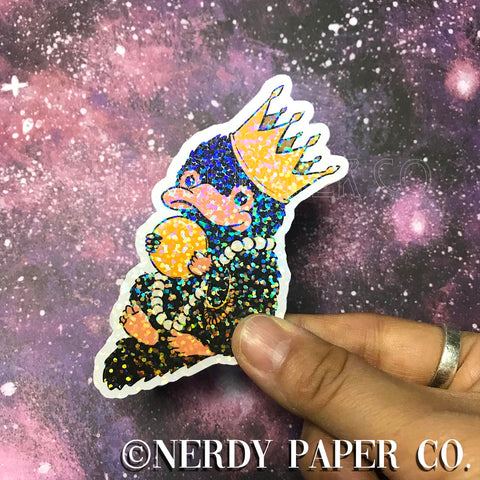 HOLO-NIFF - Hand Drawn Wizard Planner Die Cut - Chibi