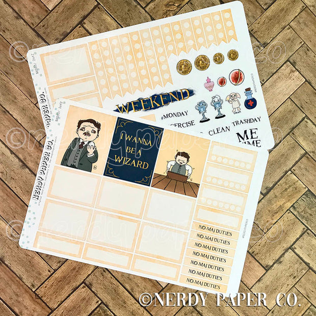 JACOB MINI KIT - Hand Drawn Wizard Planner Stickers | NK003