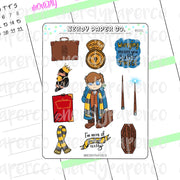 Newt Sampler | Hand Drawn Wizard Planner Stickers - Deco | NS001