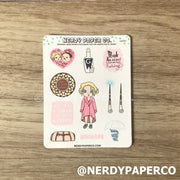 SWEET WITCH  SAMPLER -Hand Drawn Wizard Stickers- QG001