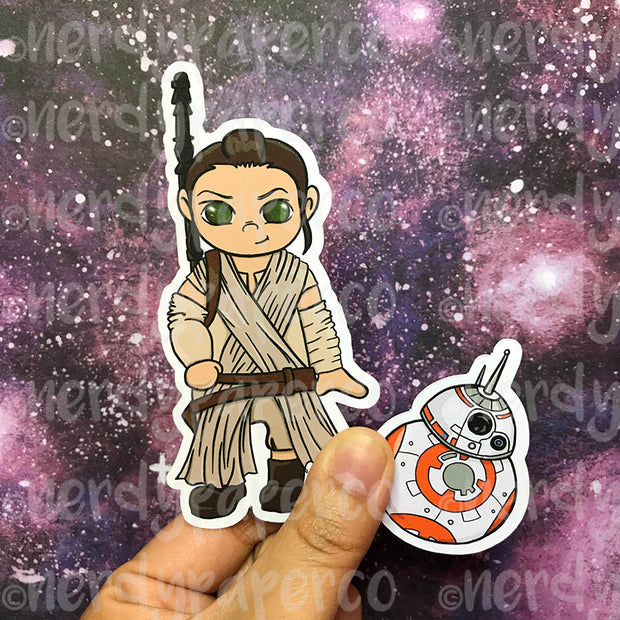 REY + BB-8 DIE CUT PACK- Hand Drawn Space Planner Die Cut Pack