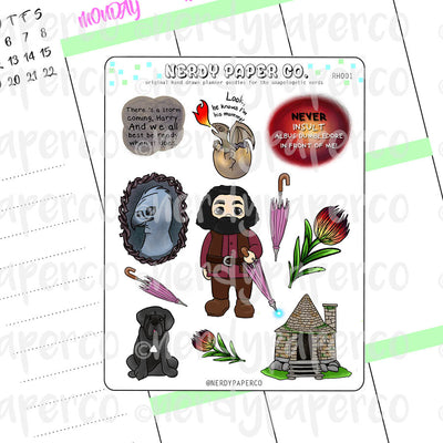 RUBEUS SAMPLER - Hand Drawn Wizard Planner Sticker - RH001