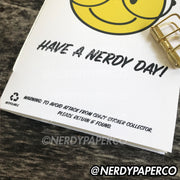 HAVE A NERDY DAY STICKER NOTEBOOK