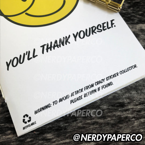 BE NERDY - REUSABLE STICKER NOTEBOOK