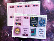 QUIRKY WITCH FULL BOX SET - Hand Drawn Wizard Planner Stickers - LL003/4