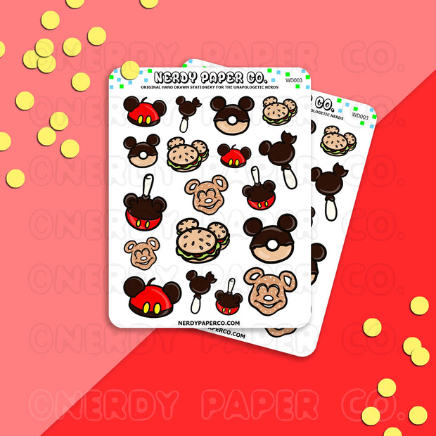 PARK SNACKS | PT 1 - Hand Drawn Planner Stickers - Deco - WD003