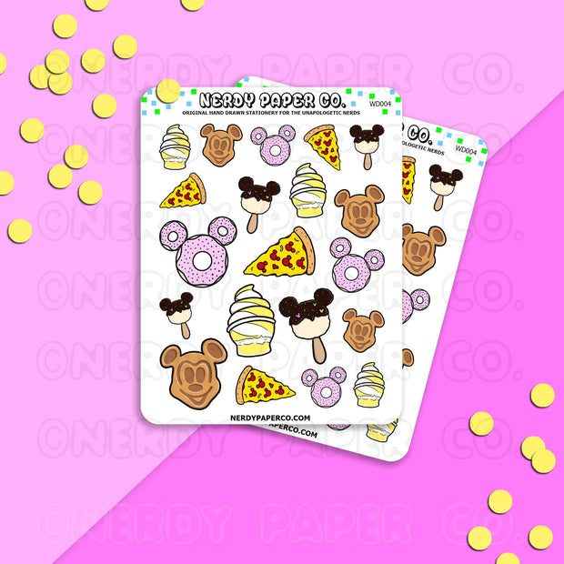 PARK SNACKS | PT 2 - Hand Drawn Planner Stickers - Deco - WD004