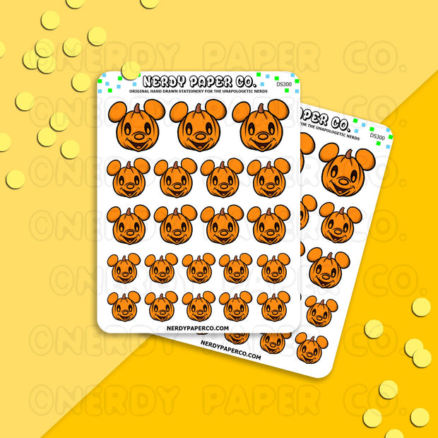MOUSE PUMPKINS - Hand Drawn Planner Stickers - WD009