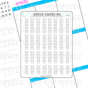 MOUSE BULLETS - Hand Drawn Planner Stickers - Deco - WD012