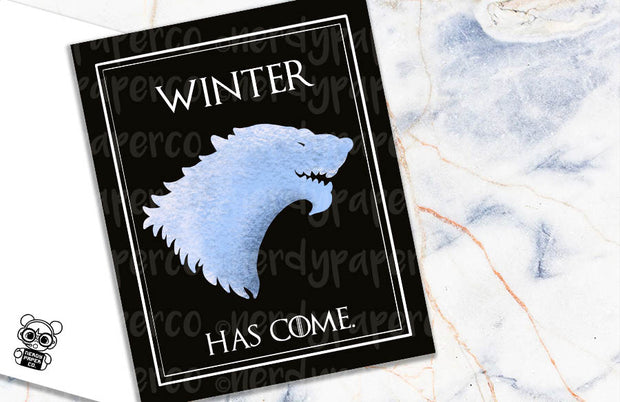 WINTER HAS COME  | Hand Drawn Planner Dashboard
